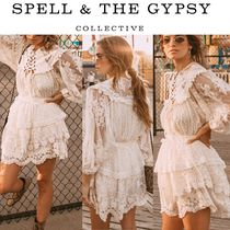 SPELL Short Plain Party Style Skirts
