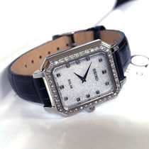 SEIKO Leather Square Quartz Watches Elegant Style Analog Watches