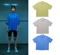 ADD SEOUL Unisex Street Style Plain Polo Shirts