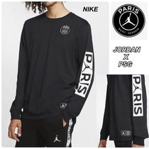 Nike AIR JORDAN Crew Neck Street Style Collaboration Long Sleeves Cotton