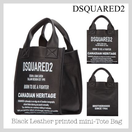 Street Style 2WAY Leather Totes