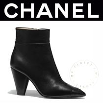 CHANEL ICON Plain Toe Casual Style Blended Fabrics Street Style Plain