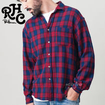 Ron Herman Gingham Street Style Long Sleeves Shirts