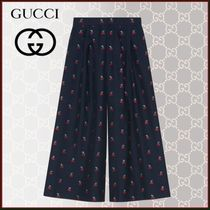 GUCCI Casual Style Blended Fabrics Street Style Cotton Long