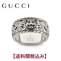 GUCCI Unisex Other Animal Patterns Silver Rings
