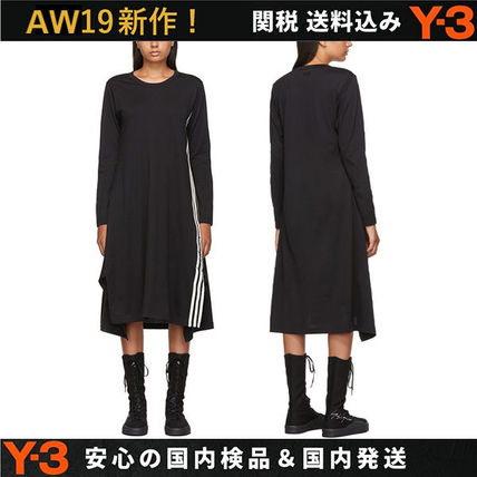 Casual Style Street Style Long Sleeves Cotton Dresses