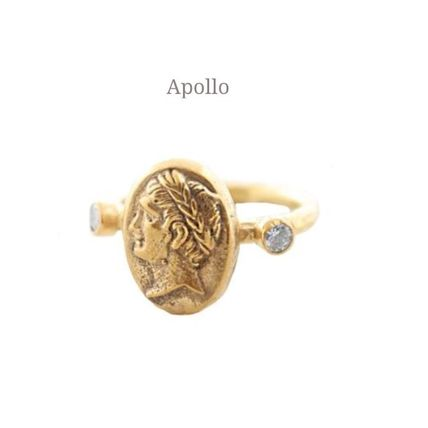 Casual Style Coin Silver Rings