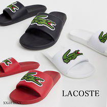 LACOSTE Unisex Blended Fabrics Street Style Plain Shower Shoes Logo