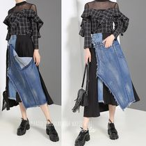Casual Style Blended Fabrics Pleated Skirts Street Style