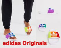adidas Open Toe Casual Style Unisex Shower Shoes Flat Sandals