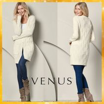 Venus Cable Knit Casual Style Long Sleeves Plain Medium Oversized