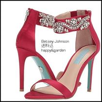 Betsey Johnson Party Style With Jewels Heeled Sandals