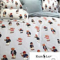 Ralph Lauren Stripes Unisex Fitted Sheets Characters Duvet Covers