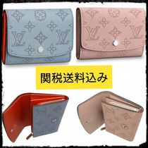 Louis Vuitton MONOGRAM Monogram Unisex Street Style Leather Folding Wallets