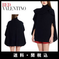 RED VALENTINO Wool Plain Ponchos & Capes