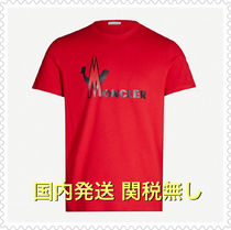 MONCLER Crew Neck Cotton Short Sleeves Logos on the Sleeves