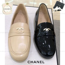 CHANEL Leather Loafer Pumps & Mules