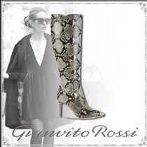 Gianvito Rossi Leather Python Elegant Style High Heel Boots