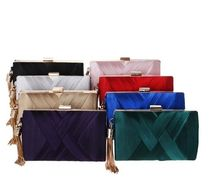 2WAY Chain Plain Party Style Clutches