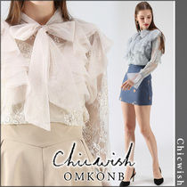 Chicwish Flower Patterns Casual Style Long Sleeves Medium Lace