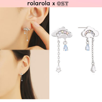 Party Style Silver Earrings