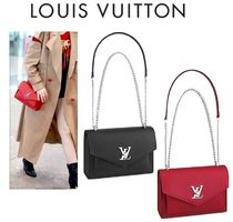 Louis Vuitton MY LOCKME  2WAY Chain Leather Elegant Style Shoulder Bags