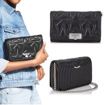 Jimmy Choo Star Chain Leather Party Style Clutches