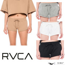 RVCA Short Casual Style Plain Cotton Denim & Cotton Shorts