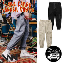 WV PROJECT Unisex Street Style Plain Cotton Oversized Cargo Pants