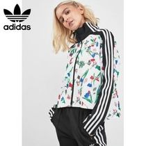 adidas Flower Patterns Long Sleeves High-Neck Tops