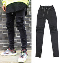 Street Style Plain Joggers Jeans