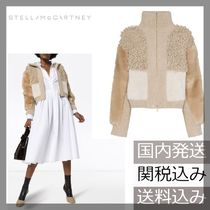 Stella McCartney Faux Fur Bi-color Plain Jackets