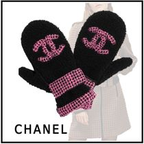 CHANEL Tweed Gloves Gloves
