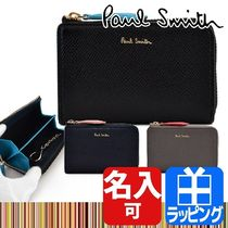 Paul Smith Stripes Plain Leather Coin Cases