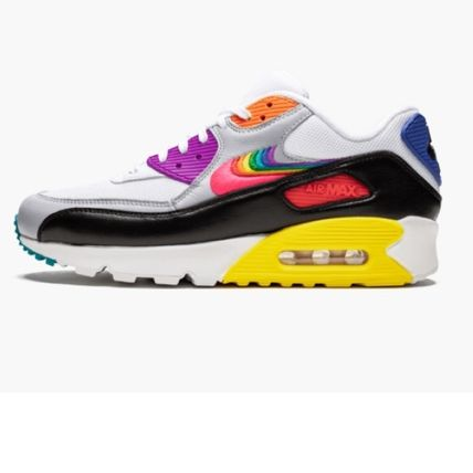 Nike AIR MAX 90 Unisex Street Style Leather Sneakers