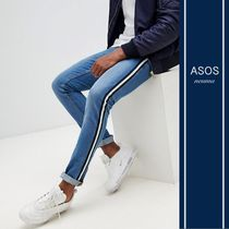 ASOS Stripes Denim Blended Fabrics Street Style Jeans & Denim