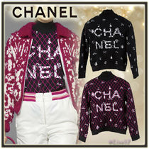 CHANEL Short Argile Cashmere Long Sleeves Elegant Style Turtlenecks