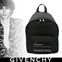 GIVENCHY Nylon Street Style Plain Backpacks