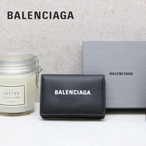 BALENCIAGA EVERYDAY TOTE Unisex Street Style Plain Oversized Coin Cases