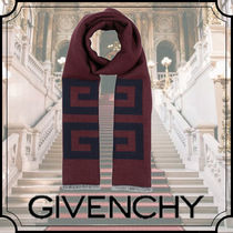 GIVENCHY Wool Fringes Scarves