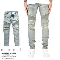 MNML Unisex Street Style Plain Cotton Jeans & Denim
