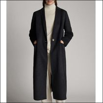 Massimo Dutti Wool Plain Long Elegant Style Chester Coats