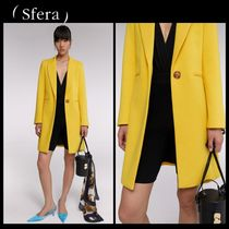 Sfera Casual Style Plain Medium Chester Coats