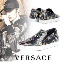 VERSUS VERSACE Unisex Street Style Leather Loafers & Slip-ons