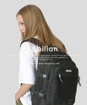 bubilian Unisex Street Style Bi-color Plain Backpacks
