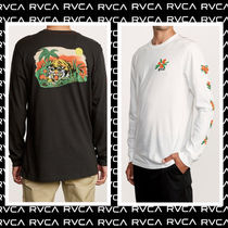 RVCA Long Sleeves Cotton Long Sleeve T-Shirts