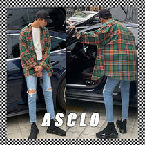 ASCLO Street Style Long Sleeves Cotton Shirts