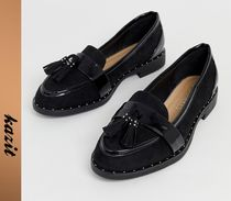ASOS Casual Style Faux Fur Tassel Loafer Pumps & Mules