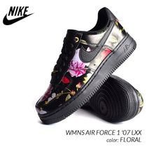 Nike AIR FORCE 1 Flower Patterns Casual Style Unisex Street Style