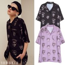 13MONTH Casual Style Unisex Street Style Short Sleeves Oversized